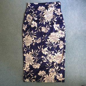 Zara XS floral pencil skirt